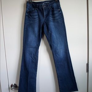 Fitted bootcut jeans!